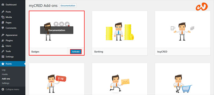 myCRED WordPress Plugin for Points and Rewards Management