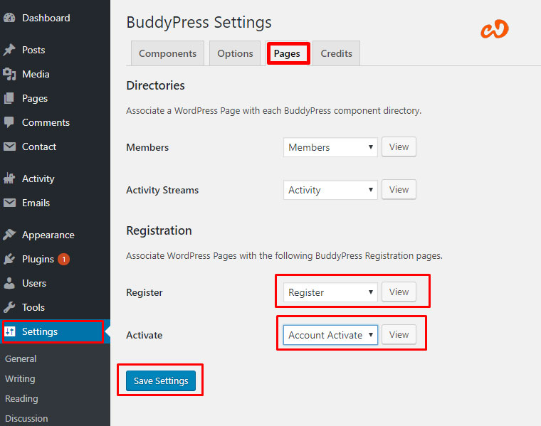 easy setup WordPress BuddyPress Plugin