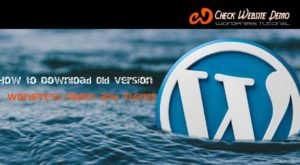 WordPress old version